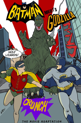 Batman Meets Godzilla Cover